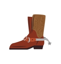 boot shoes west cowboy icon graphic vector image