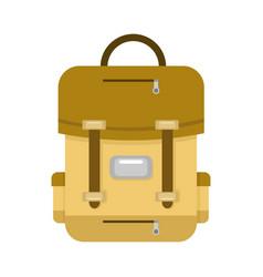 Brown school backpack vector