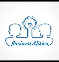 Business concept - people with bulb vector