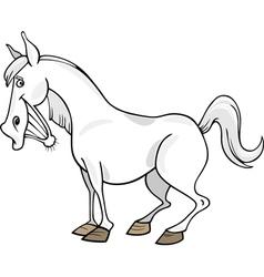 Cartoon Gray Horse vector image