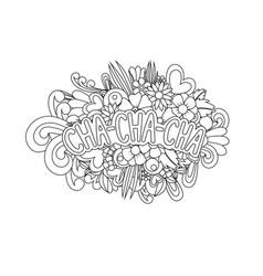 Cha-cha-cha zen tangle vector