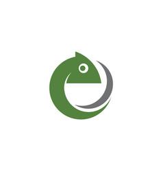 chameleon icon silhouette vector image