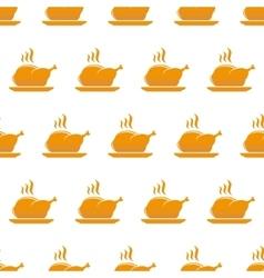 Chicken background vector