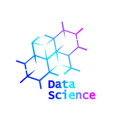 Data science logo icon design vector