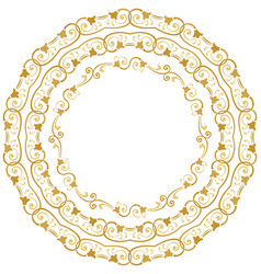 decorative floral circles vector image