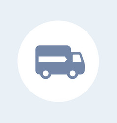 delivery icon isolated over white vector image