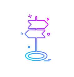 direction board icon design vector image