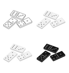Dominoes for playing in the casino gambling for vector