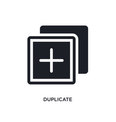 Duplicate isolated icon simple element from vector