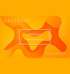 dynamic textured orange background design vector image