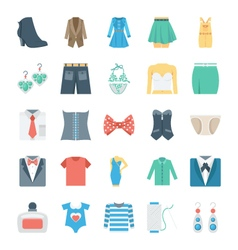 Fashion and Clothes Icons 7 vector