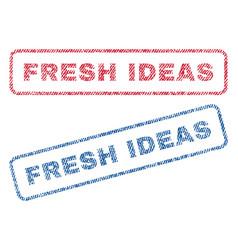 Fresh ideas textile stamps vector