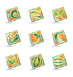 Green logo design templete vector