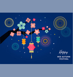 happy mid autumn festival mid autumn vector image