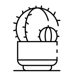 house cactus icon outline style vector image