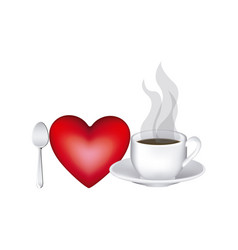Image color with lovers of hot coffee drink vector