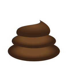 isolated poop icon vector image