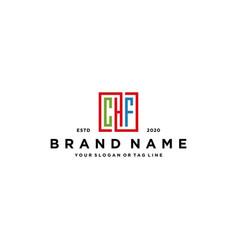 Letter chf square colorful logo design vector