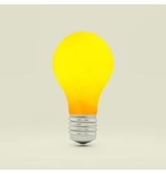 Lightbulb idea symbol 3d vector image