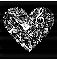 Love for music concept vector image