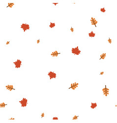 maple and oak leaf pattern seamless vector image