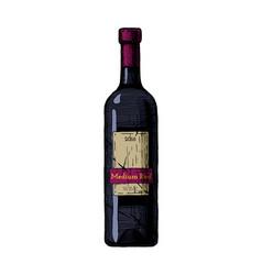 Medium red wine vector