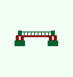 Metal bridge vector