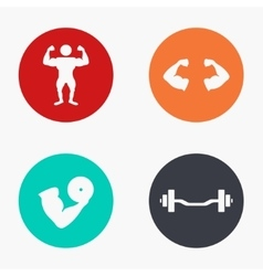 Modern sport colorful icons set vector