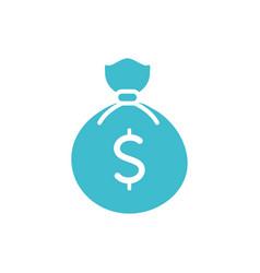 Money bag business finance color silhouette vector