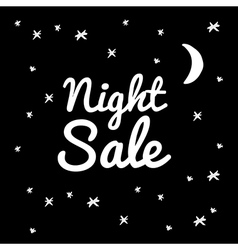 night sale on a black background vector image
