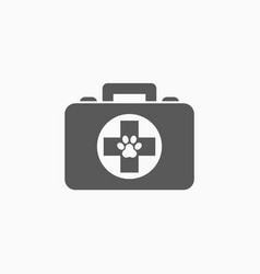 pet first aid kit icon vector image