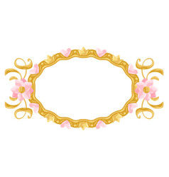 Princess frame with hearts and crowns vector
