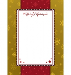 Red and gold christmas frame vector