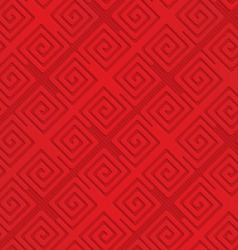 Red diagonal square spirals vector image