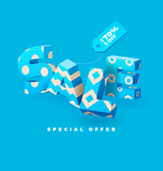 Sale 3d sign blue vector