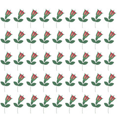 seamless pattern with tilted roses vector image