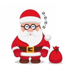 set christmas flat santa claus vector image