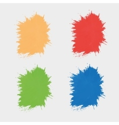Set colored spots paint silhouettes the vector