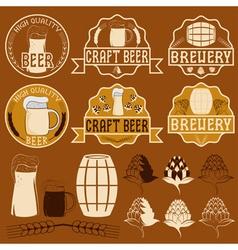 Set of beer emblems vector