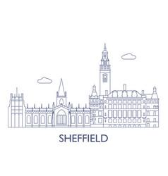 sheffield vector image