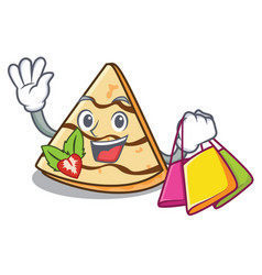 Shopping crepe character cartoon style vector
