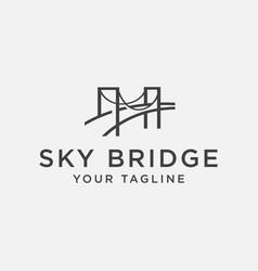 sky bridge logo design vector image