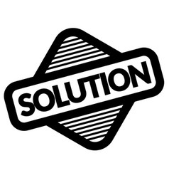 Solution black stamp vector