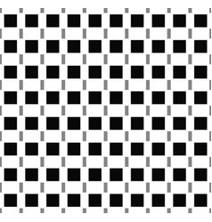Squares seamlessly repeatable pattern in black vector