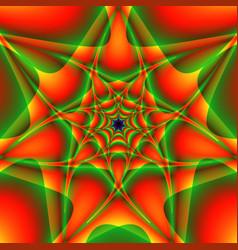 Symmetric green orange pattern vector