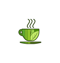 tea cup logo designs inspiration isolated on vector image
