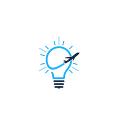 travel idea logo icon design vector image