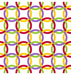 twisted circles vector image