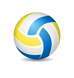 Volleyball isolated on white vector