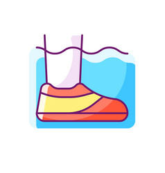 Water shoes rgb color icon vector